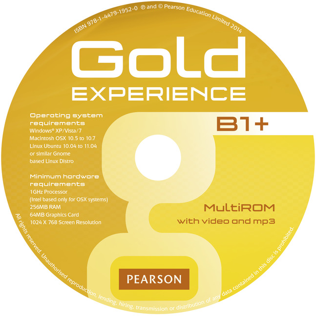 Gold Experience Student's Book witd Multi-ROM B1+